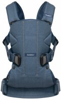 Сумка-кенгуру Baby Bjorn Baby Carrier One Classic Темно-синя (98051) - фото