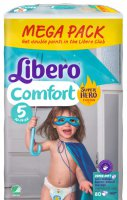Підгузки дитячі Libero Comfort Hero Collection 5 10-14 кг 80 шт 7322540490770 - фото